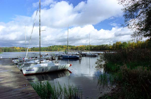Masurian sailboat harbour